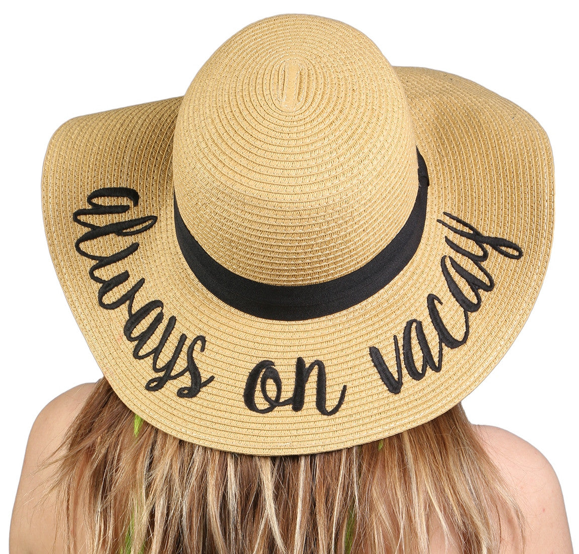 84817237cf0 C.C Embroidered Sun Hat - Always on Vacay – FUNKY JUNQUE
