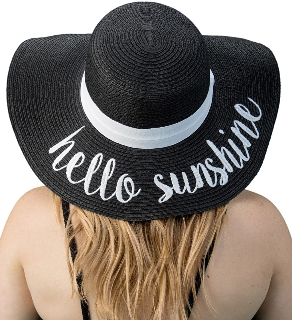 C.C Embroidered Sun Hat - Hello Sunshine