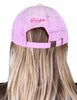 Women's Breast Cancer Awareness Pink Ribbon Logo Hope Shredded Baseball Hat Cap - Pink