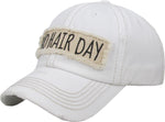 Distressed Patch Baseball Cap - Bad Hair Day (White)
