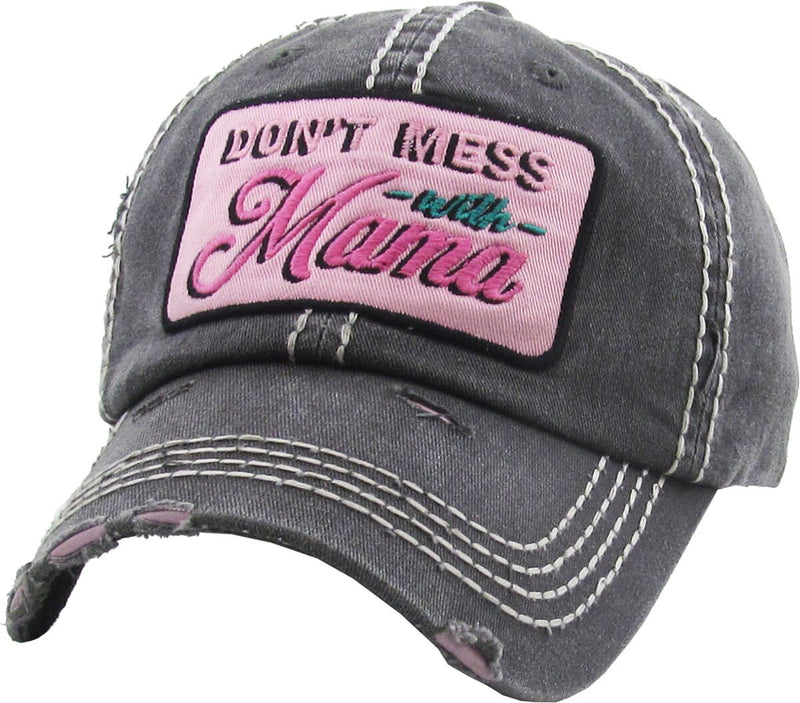 Distressed Patch Hat - Don't Mess with Mama