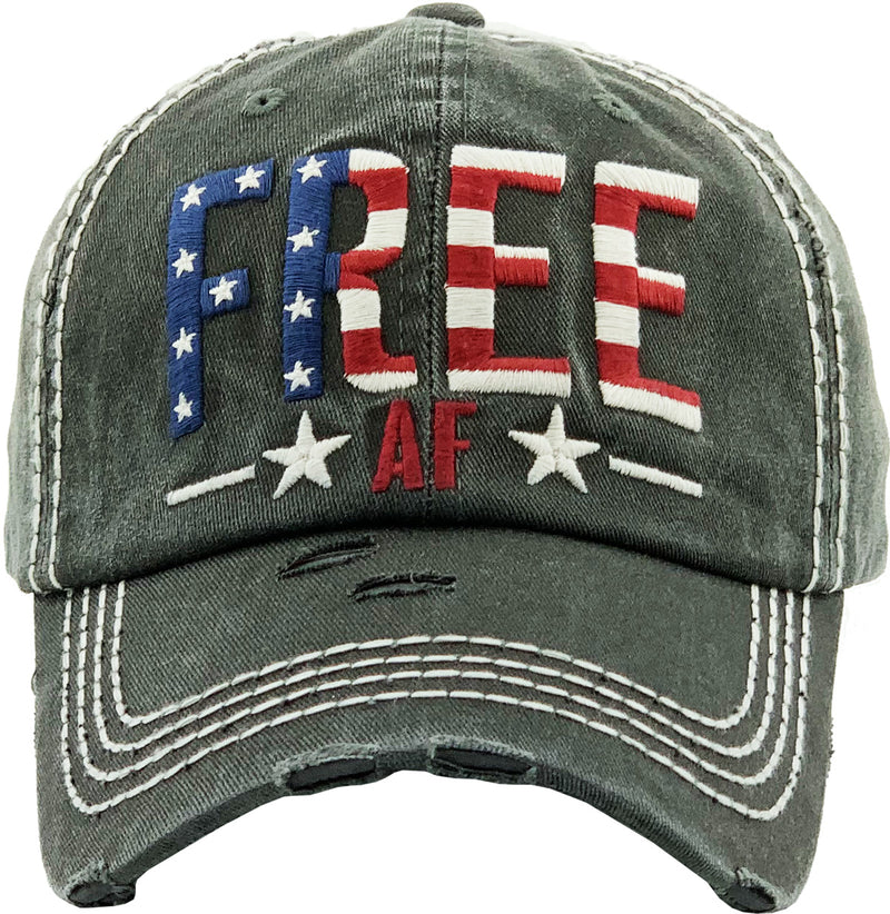 Distressed Patch Hat - Free AF