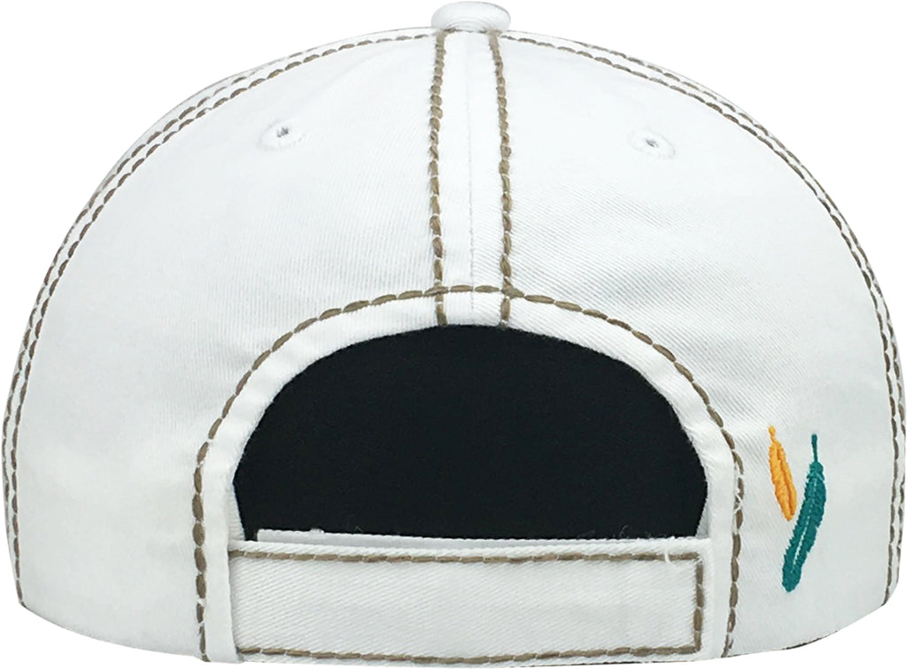 Distressed Patch Baseball Cap - Free Spirit (White)