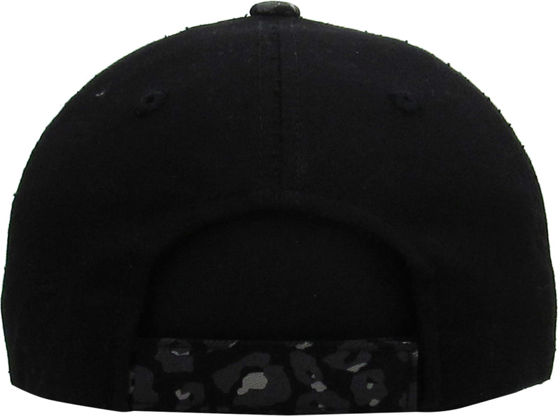 Distressed Patch Baseball Cap - Free Spirit (Leopard)