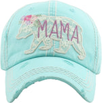 Distressed Patch Hat - Mama Bear