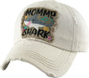 Distressed Patch Hat - Mommy Shark