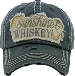 Distressed Patch Hat - Sunshine & Whiskey