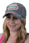 Distressed Patch Hat - Wife Mom Boss