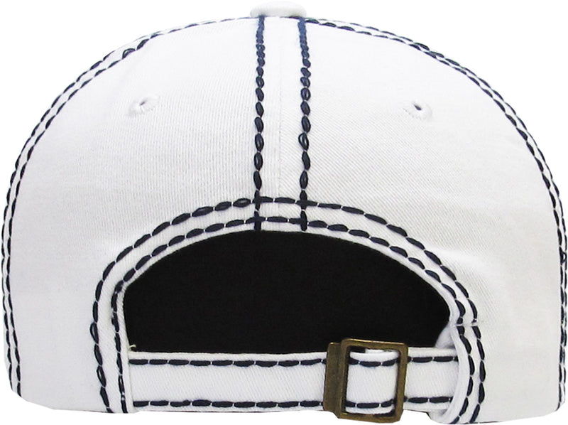 Distressed Patch Baseball Cap - Star (White)