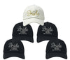 Bridal Party Baseball Cap Bundle - Bride (White/Gold) & Four Bride Tribe