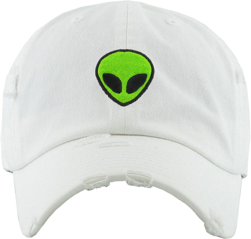 Unconstructed Dad Hat - Alien (Distressed White)