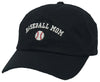 Unconstructed Dad Hat - Baseball Mom (Black)