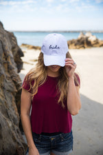 Unconstructed Dad Hat - Bride (Distressed White)