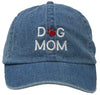 Unconstructed Dad Hat - Dog Mom (Denim)