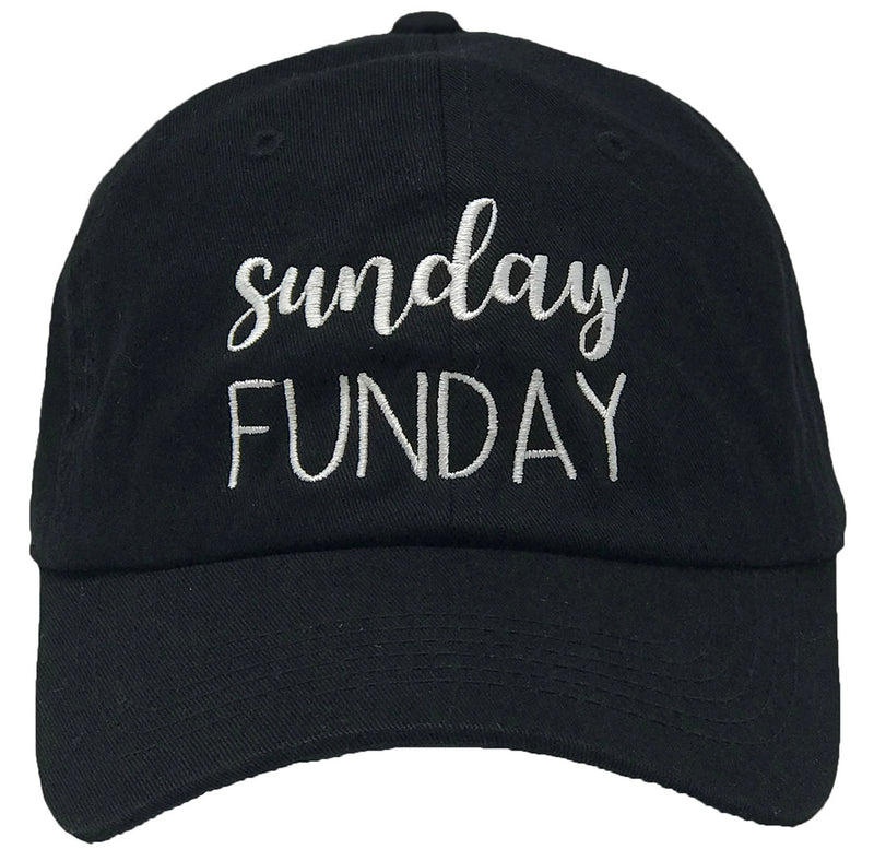 Unconstructed Dad Hat - Sunday Funday (Black)