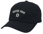 Unconstructed Dad Hat - Soccer Mom (Black)