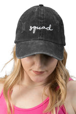 Unconstructed Dad Hat - Squad (Distressed Black)