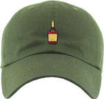 Unconstructed Dad Hat - Liquor Bottle (Olive)