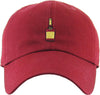 Unconstructed Dad Hat - Liquor Bottle (Burgundy)