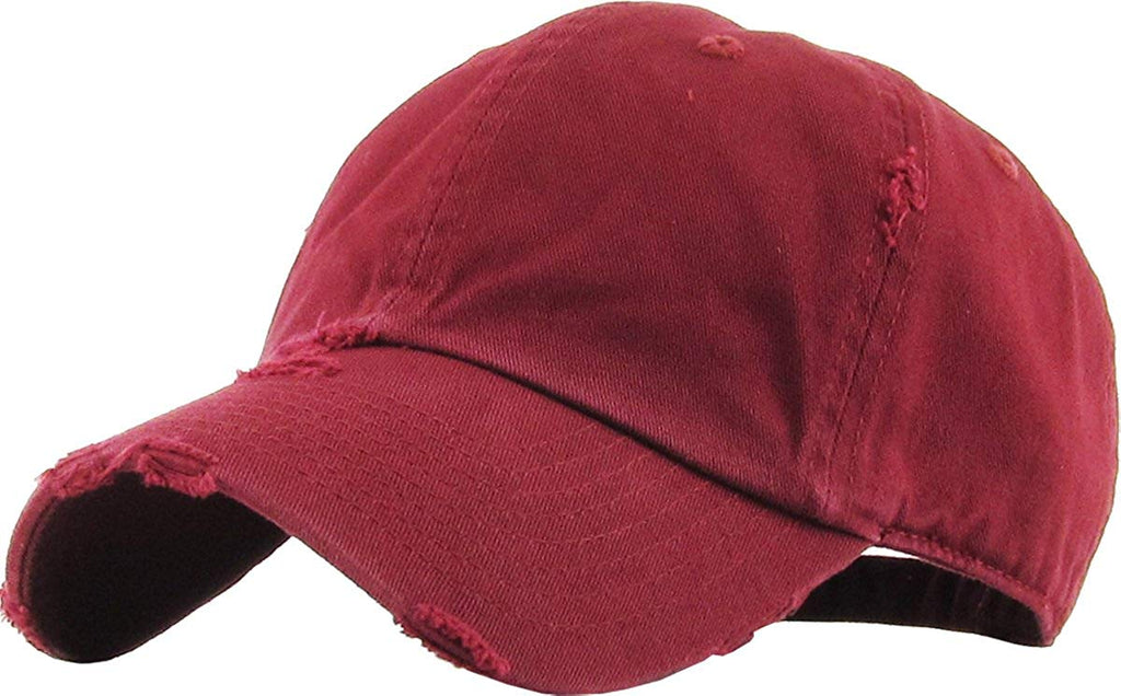 Distressed Low Profile Baseball Cap