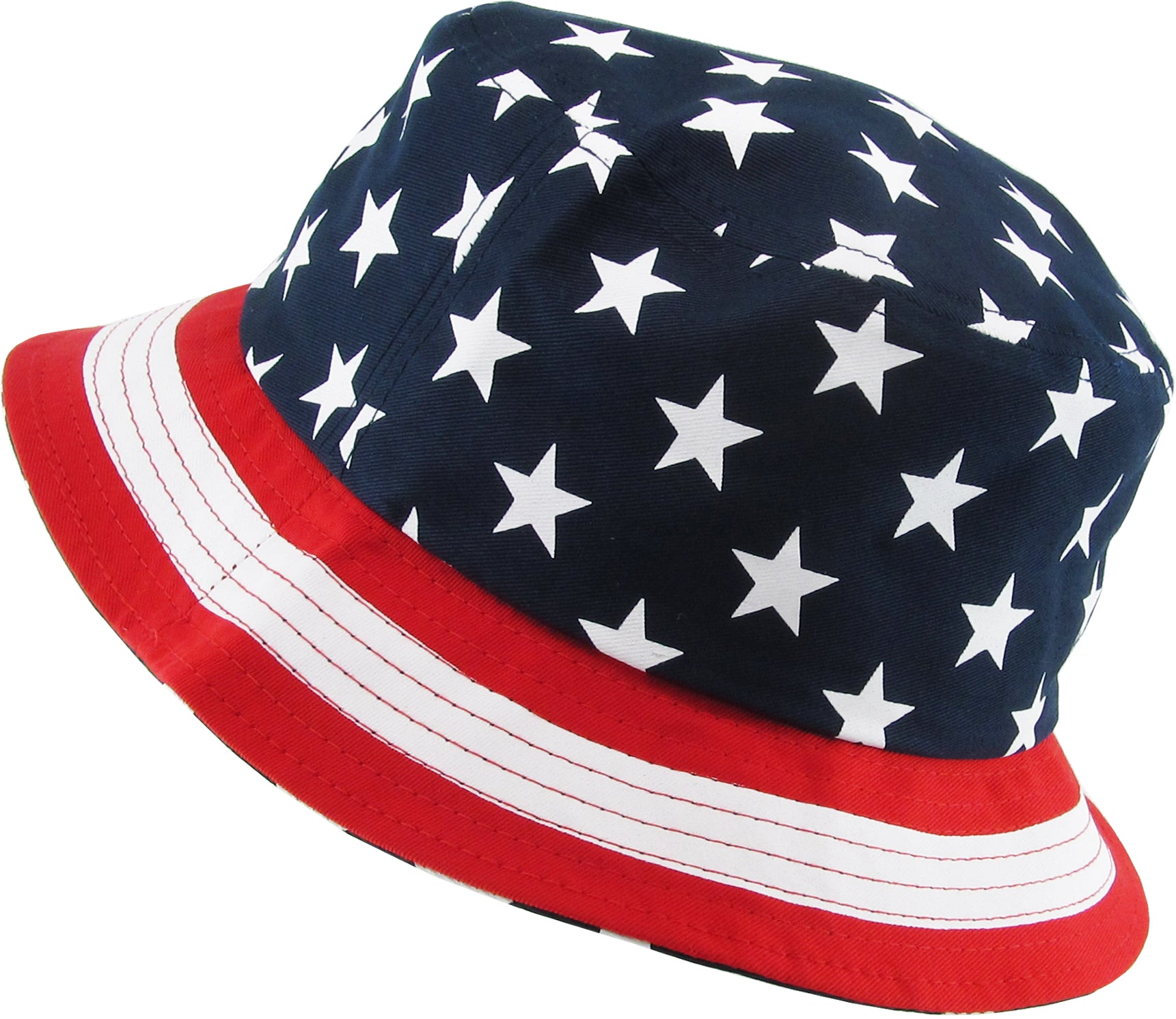 Bucket Hat Usa Flag Funky Junque