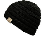 C.C. Kid's Classic Fit Cable Knit Beanie - Solid Colors