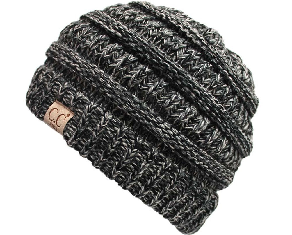C.C. Kid's Classic Fit Cable Knit Beanie - 4 Tone
