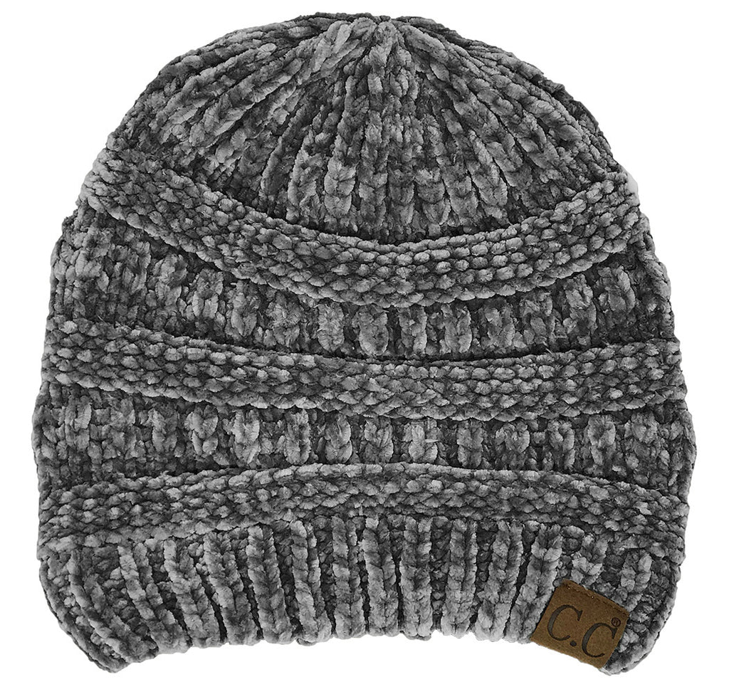 C.C. Classic Fit Cable Knit Beanie - Chenille