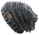 C.C. Oversized Slouchy Fit Cable Knit Beanie - Chenille