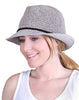 C.C Short Brim Fedora - Grey with Black Rope