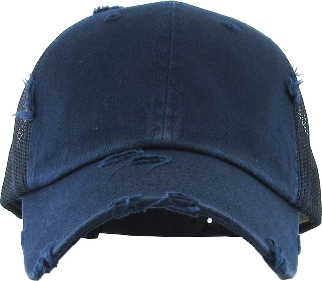 Distressed Trucker Hat - Navy