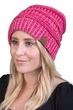 C.C Classic Fit Beanie - Red/Hot Pink Mix #10