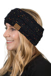 C.C. Cable Knit Lined Winter Headband - Confetti