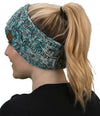 C.C. Cable Knit Lined Winter Headband - 4 Tone