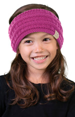 C.C. Kid's Ribbed Knit Winter Headband