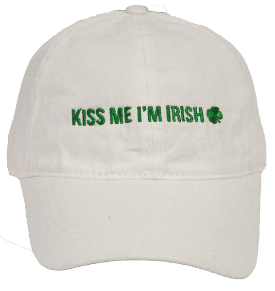St. Patrick's Day Party Cap - Kiss Me I'm Irish (White)