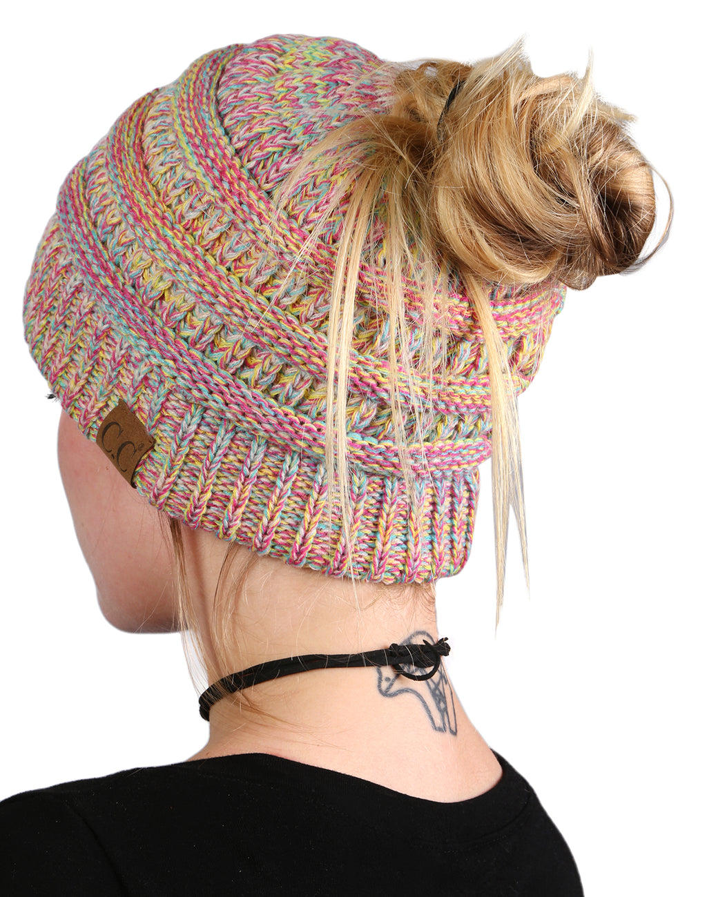 C.C BeanieTail Bundled With Matching Infinity Scarf - Rainbow #11