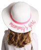 C.C Girls Embroidered Sun Hat - Mommy's Girl (White)