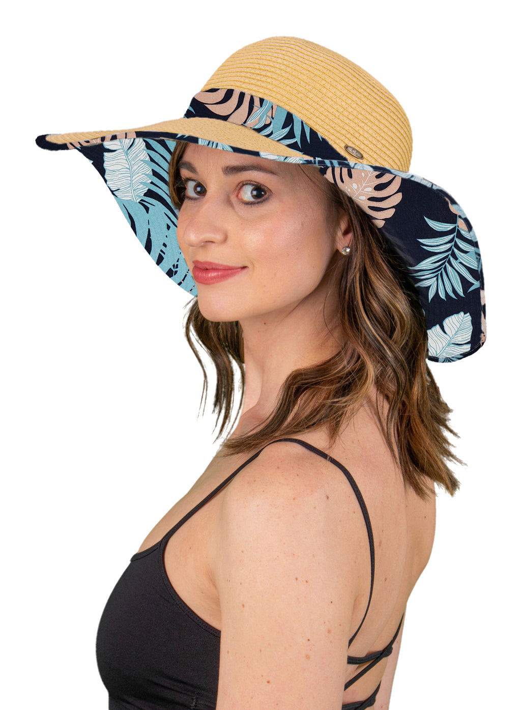 Fabric Brim Sun Hat