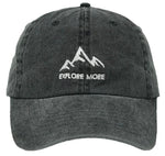 Unconstructed Dad Hat - Explore More (Charcoal)