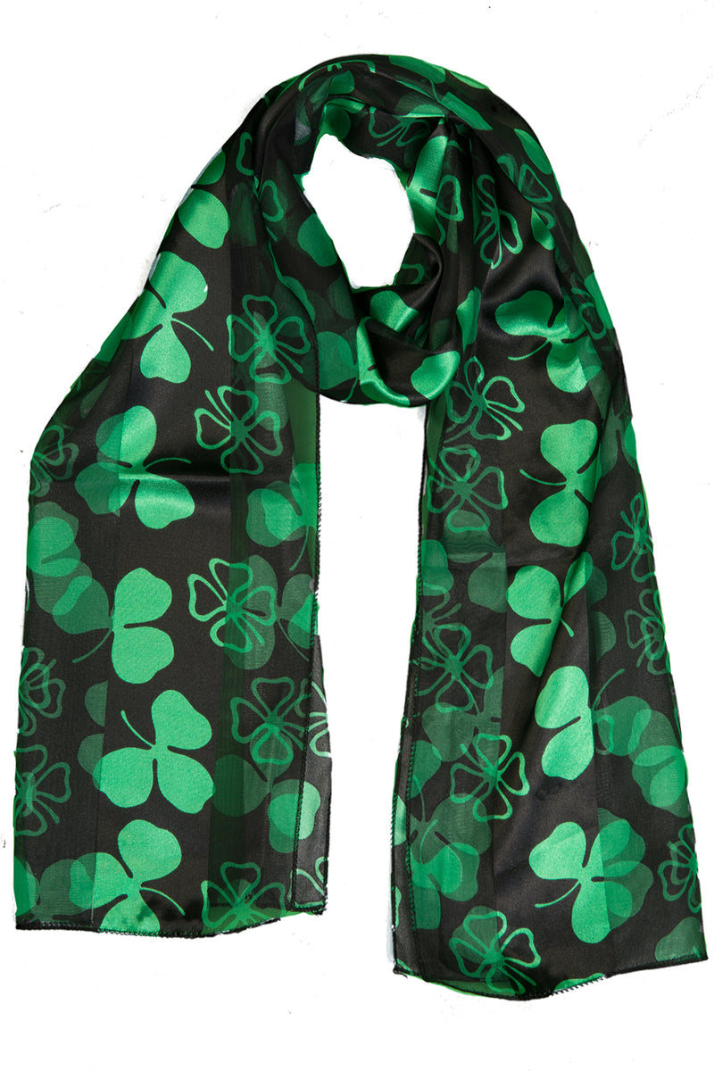 St. Patrick's Day Oblong Scarf - Black