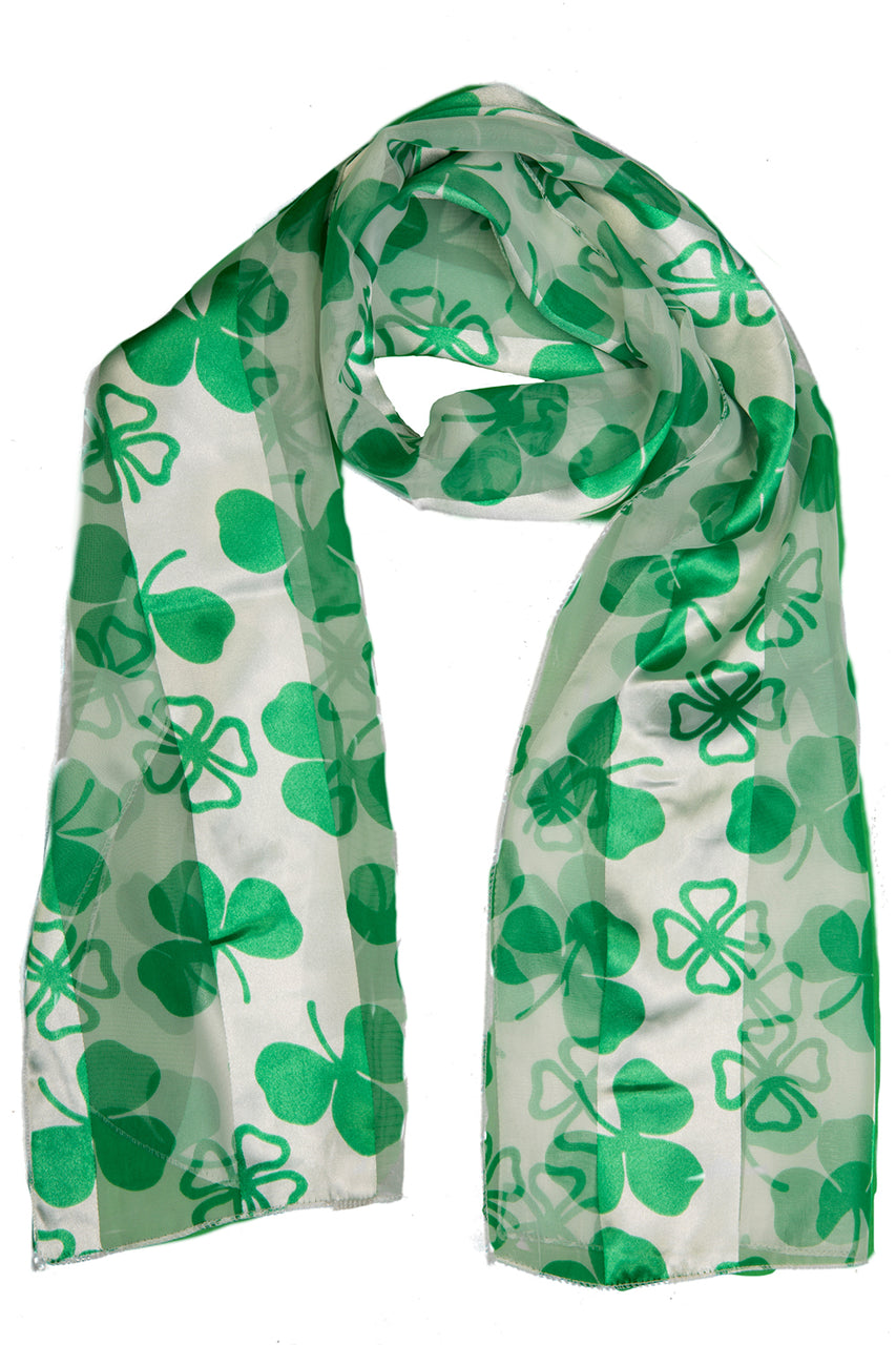 St. Patrick's Day Oblong Scarf - White