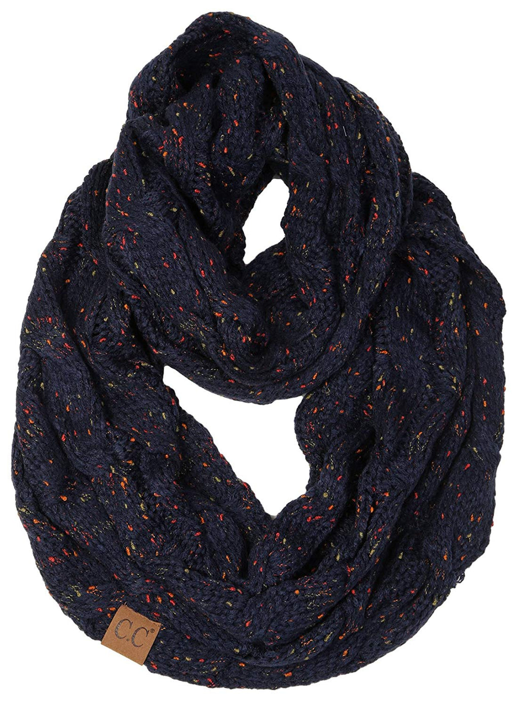 C.C. Cable Knit Infinity Scarf - Confetti