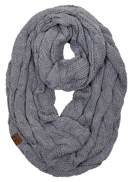 C.C Infinity Scarf - Heather Grey