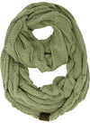 C.C. Cable Knit Infinity Scarf - Solid Colors
