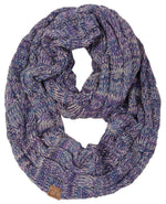 C.C. Cable Knit Infinity Scarf - 4 Tone