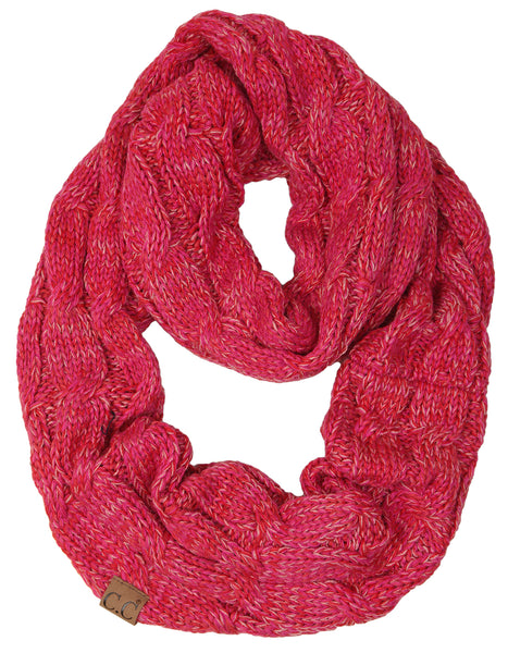 C.C Infinity Scarf - Red/Hot Pink Mix #10