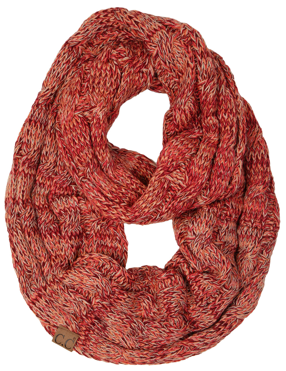 C.C Infinity Scarf - Coral Mix #16