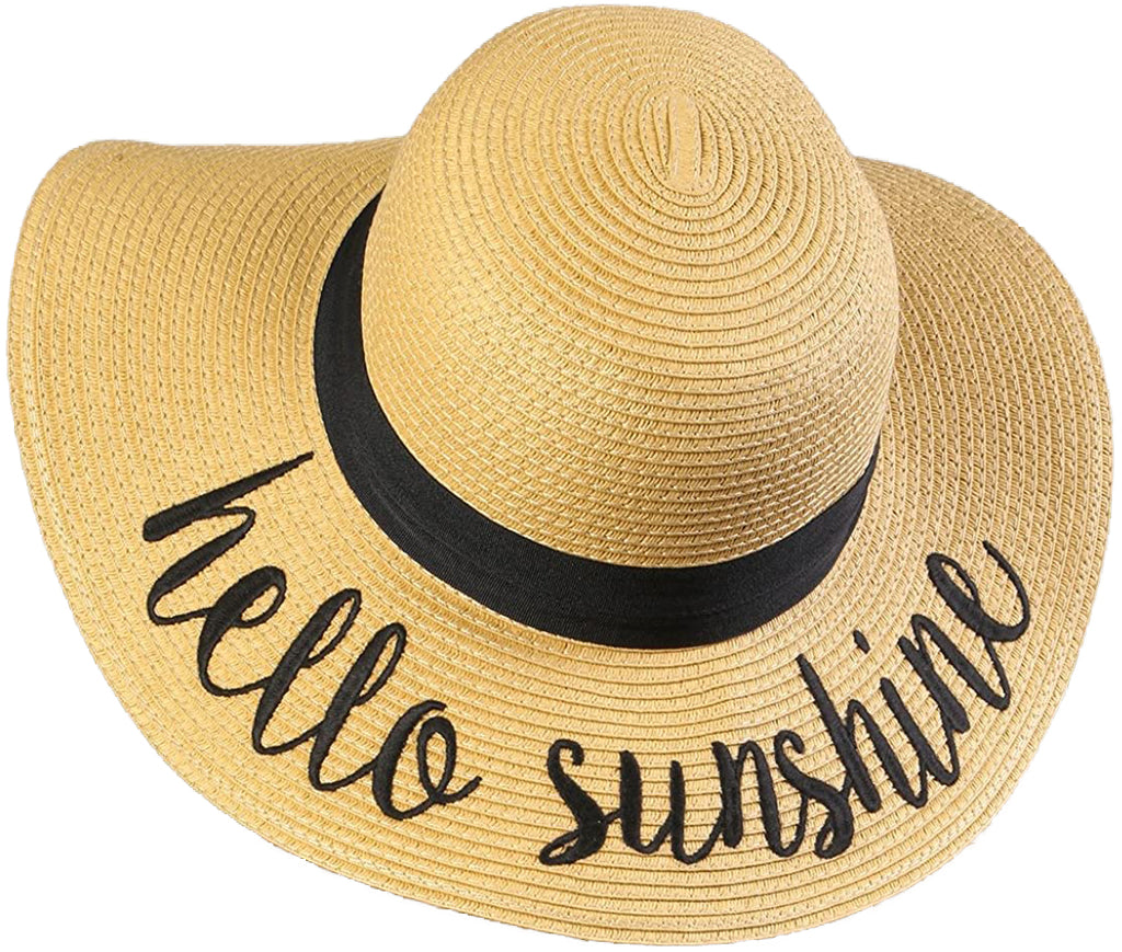 Ponytail Sun Hat - Hello Sunshine