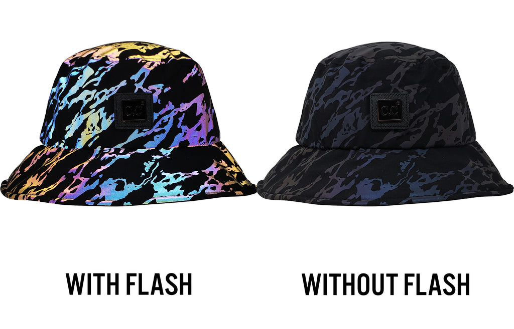 Reflective Bucket Hat - Marble Print